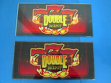 """Lot of 2 Bally Gaming Inc Double Jackpot """"777"""" Slot Machine Casino Glass Toppers"""
