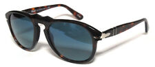 PERSOL 649 54 DARK HAVANA S3 BLUE POLARIZED SUNGLASSES CUSTOMIZED PERSONALIZZATO