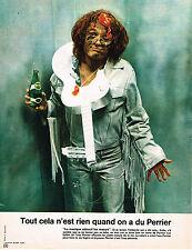 """PUBLICITE ADVERTISING   1972    PERRIER eau minérale """"la musique adoucit les moe"""