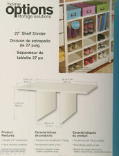 "HOME OPTIONS Storage Closet 27"" SHELF DIVIDER White"