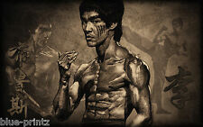 canvas  BRUCE LEE  kung fu  film A1 SIZE PRINT FOR YOUR FRAME