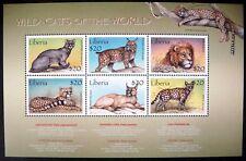 2000 MNH LIBERIA WILD CATS STAMP SHEET WILDLIFE ANIMALS LION CHEETAH LYNX JAGUAR