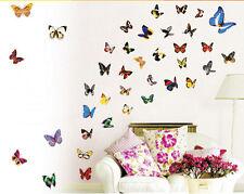 REMOVABLE 80X BUTTERFLY FLOWER DIY VINYL ART MURAL HOME DECOR WALL STICKER NEW