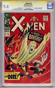 X-MEN #28 (1967) CGC 9.4 SS Signed Stan Lee!! 1ST APPEARANCE BANSHEE!