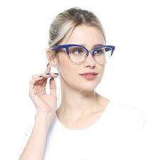 Stylish Semi-Rimless Reading Glasses Half Frame Spectacles Cat Eye Sights