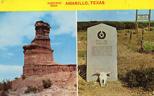 postcard USA  greetings from Amarillo Texas   unposted
