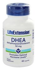 THREE BOTTLES $12.49 Life Extension DHEA 50 mg, 60 capsules anti aging NON GMO