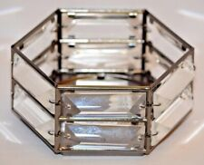 Bath & Body Works Metal Hexagon Crystal 3 Wick Candle Sleeve
