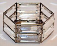 Bath & Body Works Metal Hexagon Crystal 3 Wick Candle Sleeve