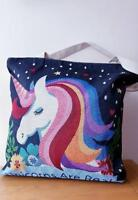 LADIES TOTE HANDBAG UNICORN ARE REAL Tapestry Canvas Style Zip Top Eco Reuseable