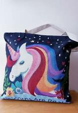 Unicorn Shopper Tote Large Bag Zip TopTapestry Canvas Style Eco Reuseable Design