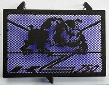 cache grille radiateur Kawasaki Z750 07>12 Bulldog noir mat + grill bleu
