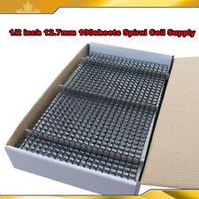 Intbuying 12 Inch 127mm 100sheets Black Spiral Coil Supply For Binder Machine