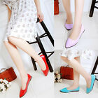Womens Candy Colors Pointy Toe Flats Ballet Loafers Work PU Leather Dress Shoes