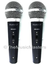 2X Dynamic Handheld Professional Microphones w/ Case Bands Djs Karaoke Pa Vocals