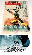 Savage Wolverine Poster Signed w/COA by Frank Cho Marvel Comics Folded 2012