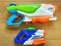 2 x Nerf Super Soaker Floodfire AND Freezefire - Water Blaster Pistol Toy Guns
