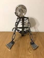 VINTAGE INDUSTRIAL MODERN HAND-MADE ART METAL TABLE DESK LAMP
