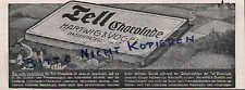 DRESDEN, Werbung Anzeige 1911, Hartwig & Vogel AG TELL Kakao Schokolade Dessert
