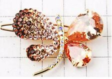 14K Gold Plated with HQ Zircon Butterfly Hair Ornaments clip Barrette Hairpin