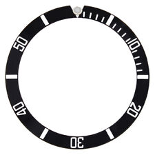 BEZEL INSERT FOR 40MM ROLEX SEA DWELLER 16600 OR 16660 WATCH BLACK