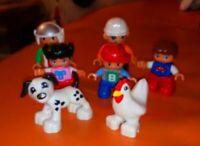 7 ASSORTED LEGO DUPLO FIGURES DOG CAT CHILDREN CONSTRUCTION XMAS FUN SET 3
