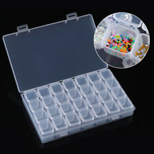 28 Slots Empty Nail Art Storage Box Rhinestones Beads Stuffs Container Case Tool