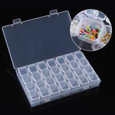 28 Slots Empty Nail Art Storage Box Rhinestones Beads Stuffs Container Case Tool
