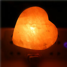 Himalayan Salt Lamp Heart Shape Natural Crystal Rock Night Light Electric Bulb
