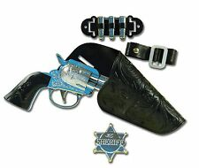 COWBOY SINGLE GUN SET SHERIFF BADGE CHILD ACCESSORY TOY FANCY DRESS