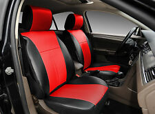 Luxurious Non-Slip Leather Protective Covers Compatible to Dodge 1209 Bk/Red