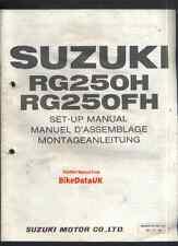 SUZUKI rg250f-h (1987-on) rivenditore set-up manuale RG 250 gamma,gj-21, PDI, PEPSI