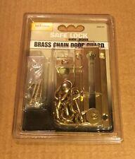 BLACK & DECKER Safe Lock Brass Chain Door Guard **NEW**