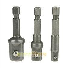 3pc IMPACT Drill Bit Socket Adapter Extension Power Bit Driver 1/4 3/8 1/2 NEW