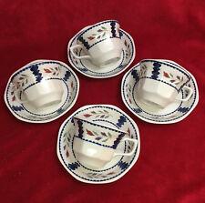 8 Piece Adams LANCASTER English Ironstone 4 - Cups & 4 - Saucers England EUC!