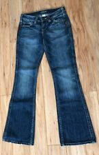 Silver Brand Women's Jeans Size 25/31 Twisted Fit Medium Wash Distressed Button