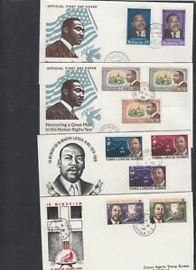 Martin Luther King Commemoration FDC St Lucia St Vincent Virgin I Turks & Caicos