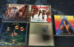 LOTTO 5 CD HARD ROCK - BLACK SABBATH - DEEP PURPLE - THE POLICE - THE WHO - RARE