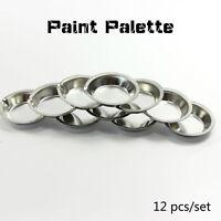 12pcs/set Model Coloring Plates UA-90020A Metal Painting Color Palette Tools