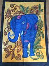 Elephant  Indian  Batik   Cotton  Wall  Hanging  !!     Brand New !!