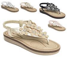 Womens Wide Fit Total Comfort Wedge Heel Slip On Slingback Walking Shoes Sandals