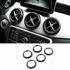 For Benz A CLA GLA Class 5* Carbon Fiber Color Center Air Vent Outlet Trim Ring