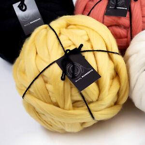 1kg Custard Yellow Merino Wool   Giant Superfine Arm Knitting Yarn 19.5 Micron