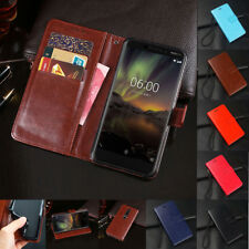 For Nokia 6.1 5.1 3.1 2.1 7 8 Flip Shockproof Magnetic Wallet Leather Case Cover
