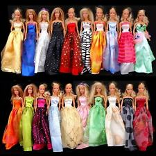 Random Pick Lot 12 Princess Dresses Clothes Gown For Barbie Doll Girl gift B00x2