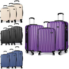 Trolley Suitcase Set Luggage Spinner Hand Case Hard Shell Travel 3Pcs