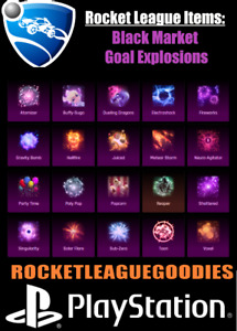 Rocket League Items - PS4 PS5 - Black Market/Mystery Goal Explosions & More!