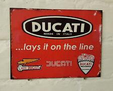 DUCATI motorbike Retro metal Aluminium Sign vintage sport raceing