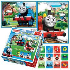 Trefl 2 In 1 30 + 48 & Memo Thomas the Tank Engine & Friends  Jigsaw Puzzle NEW