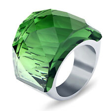 Stainless Steel Big Crystal Stone Ring Large Rings For Women Wedding Jewelry